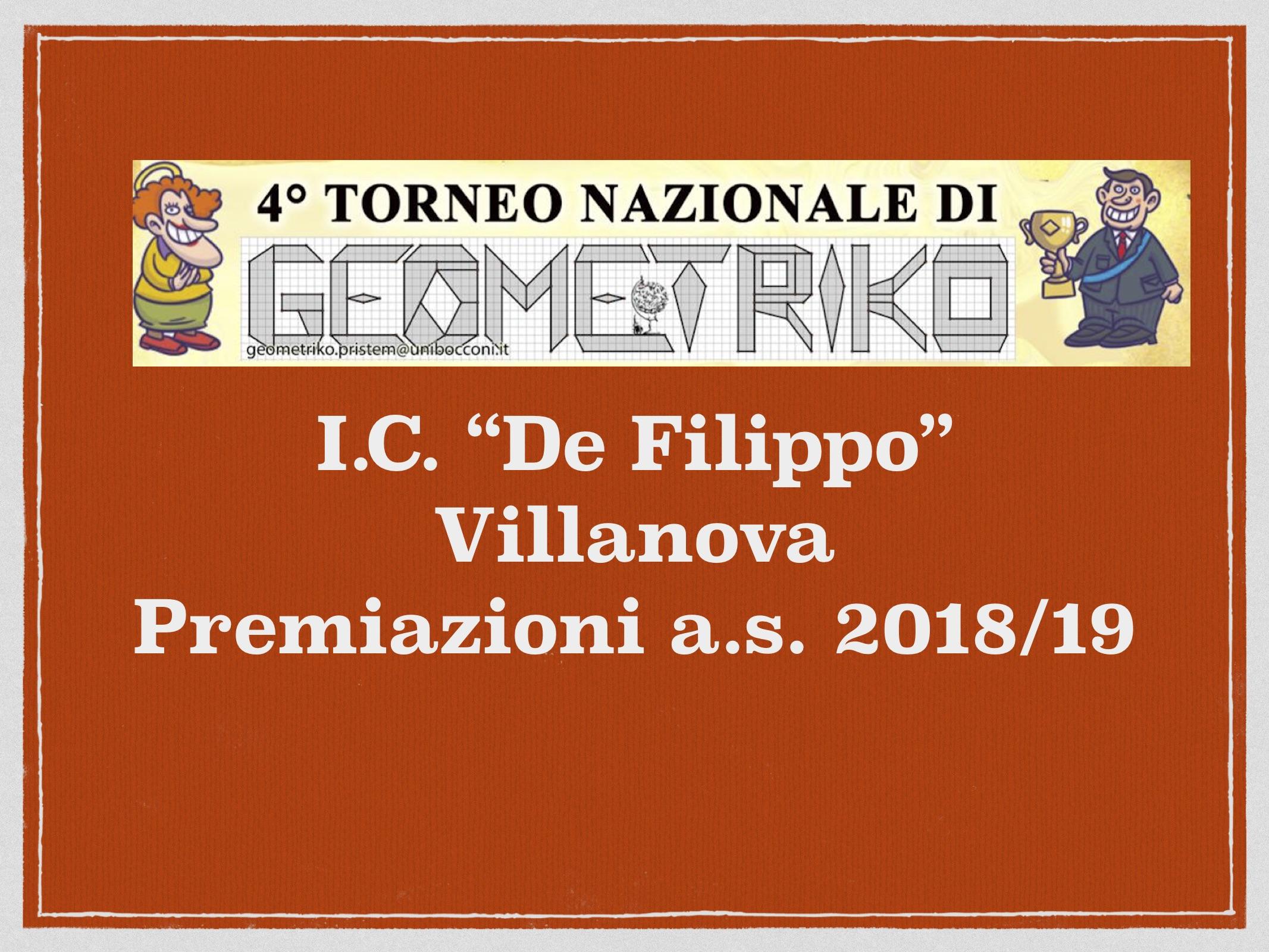 Premiazione 4° torneo GeometriKO
